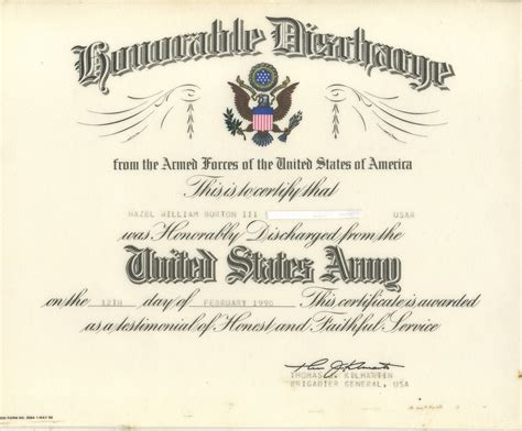 honorable discharge certificate template certificate templates furniture delivery driver