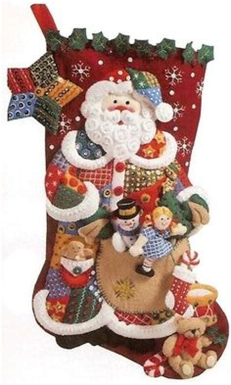 Patchwork Santa - may 2015 bucilla kit on sale at merrystockings