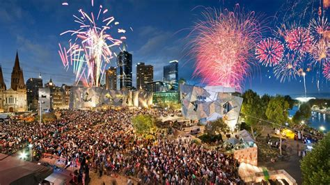 new year 2016 melbourne federation square federation square attractions touristiques melbourne