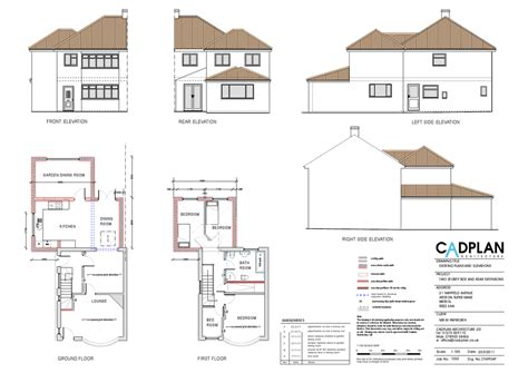 Single Story Floor Plans Single Storey And 2 Storey Extensions To Rear Extensions