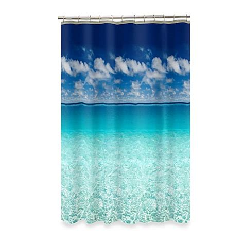 ocean shower curtains escape ocean view 70 inch x 72 inch shower curtain bed
