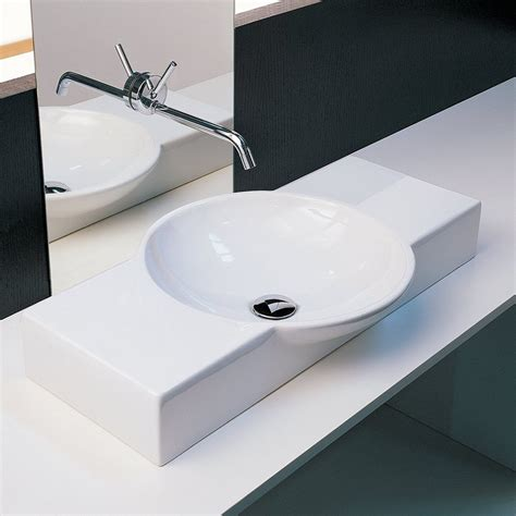 Shop Moda Collection Crescent White Rectangular Vessel