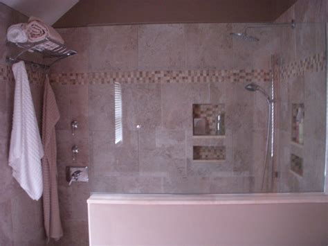 Master Bathroom With Walk In Shower Master Bath With Walk In Shower Traditional Bathroom Boston