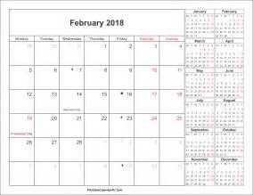 Calendar 2018 Offers February 2018 Calendar With Holidays Canada Calendar