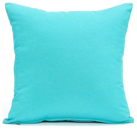 Accent Pillows Solid Aqua Blue Accent Throw Pillow Cover 16 Quot X16