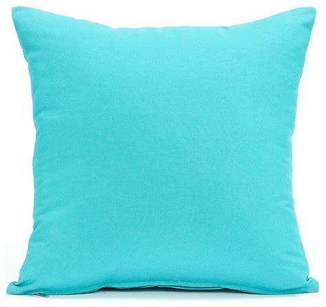 Solid aqua blue pillow cover contemporary decorative pillows by silver fern decor