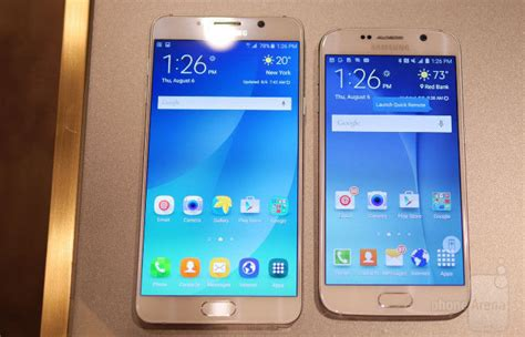 Samsung Galaxy S6 Vs Note 5 Samsung Galaxy Note 5 Vs Galaxy S6 Primo Confronto