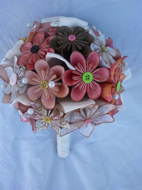 Origami Flower Wedding Bouquet - beautiful bridal origami flower bouquets