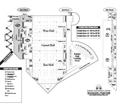Tampa Convention Center Floor Plan by Venues Tampa Convention Center