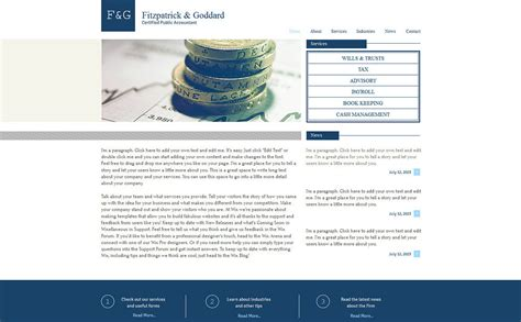 accounting website wix website template 47294