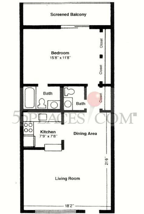 century village floor plans model b floorplan 700 sq ft century village at