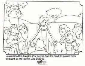 free printable coloring pages jesus resurrection jesus and his disciples free easter coloring page