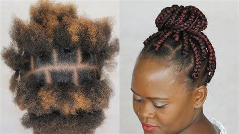 rubber band box braids box braids ii square rubberband method ii natural hair