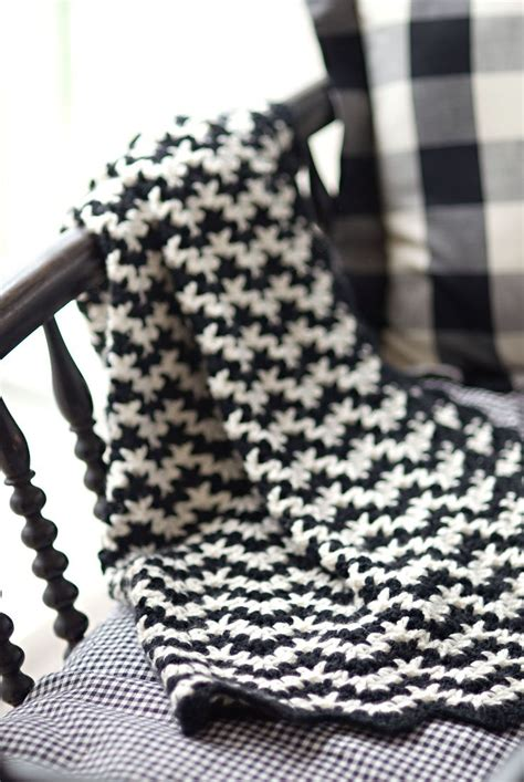 black and white yarn patterns vintage crocheted blanket pattern by churchmouse yarns and