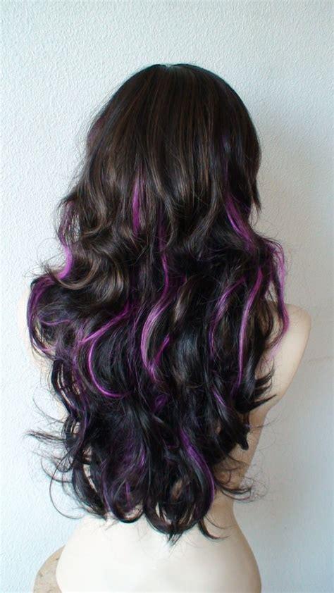 hair with purple streaks purple streaks hair inspired