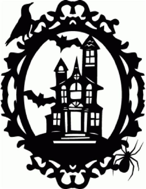 printable haunted house pumpkin carving patterns 6 best images of vintage halloween silhouettes free