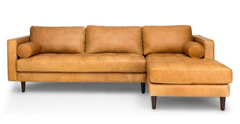 tan sectional couch sofas article modern mid century and scandinavian