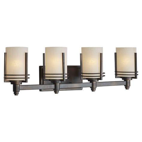 Talista 4 Light Antique Bronze Bath Vanity Light With Bathroom Vanity Light Shades