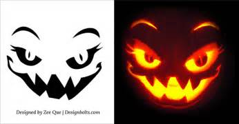 Pumpkin Pattern Template by 5 Free Scary Pumpkin Carving Patterns Stencils