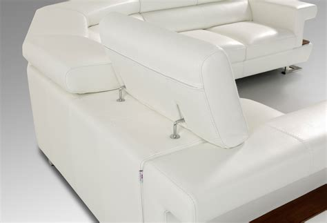 Modern White Leather Sectional Sofa by Estro Bolero Modern White Italian Leather Sectional Sofa