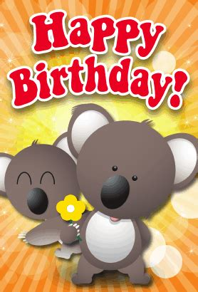 Koala Birthday Card Template by Koalas Birthday Card