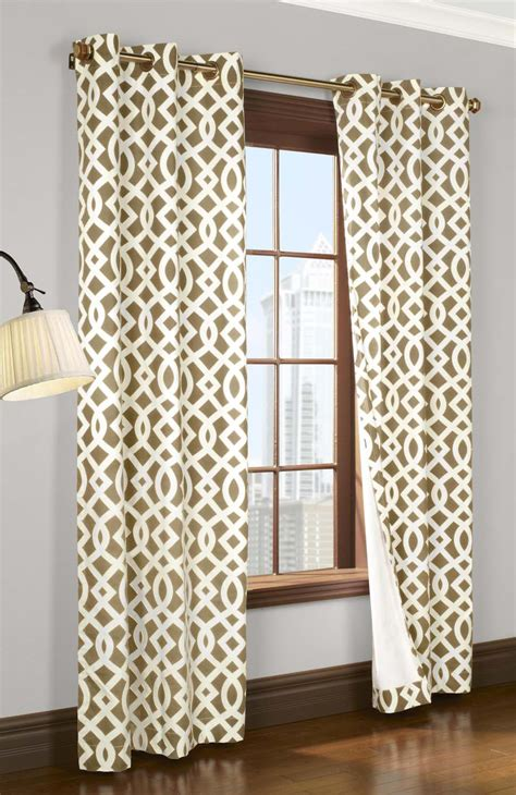 trellis design curtains trellis insulated grommet top curtains thermal drapes