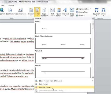delete header section how to remove a footer in microsoft word 2010 solve your