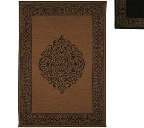 Veranda Living Indoor Outdoor Rug Veranda Living Naturals Indoor Outdoor 5x7 Medallion Reversible Rug Qvc