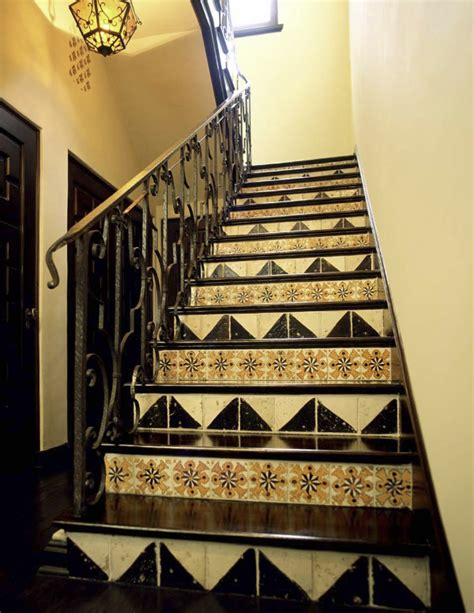 tile pattern on stairs mix and match patterned tiles for a unique d 233 cor