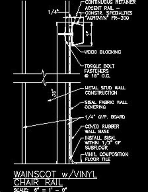 Chair Rail Detail by Index Of Cad Directory Commercial Pdf Arch Interior
