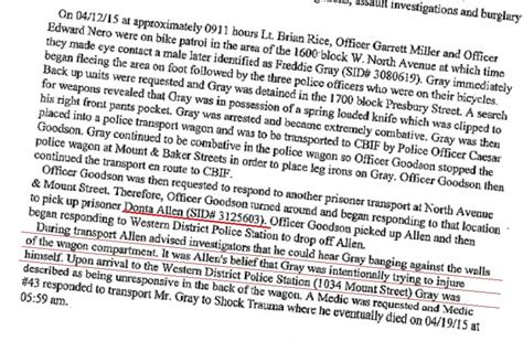 Warrant Search Baltimore Md Whoopsie Baltimore Evidence Includes Transport Witness Donta Allen On