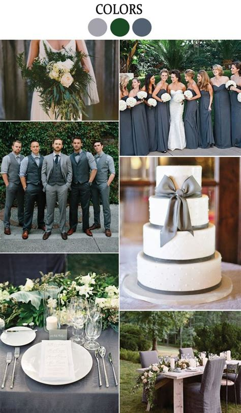 green and gray wedding colors whimsical organic grey green wedding inspiration