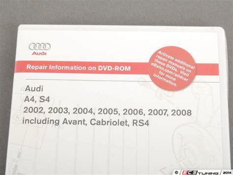 audi a4 2002 2008 pdf manuals bentley ab66 audi b6 b7 a4 s4 rs4 2002 2008 dvd rom service manual