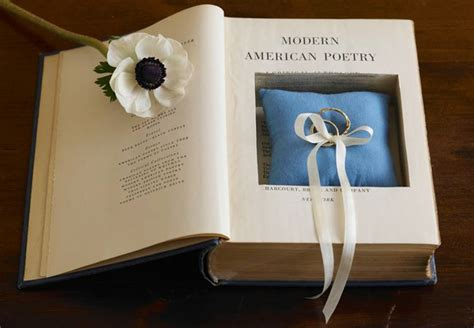 wedding ring bearer book make a secret storage book for your ring pillow
