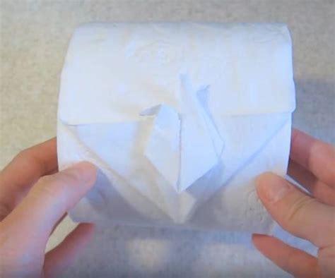 Origami Toilet Paper - cool crane toilet paper origami allfreepapercrafts
