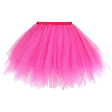 Women's Adult 80s Retro Tutu Fluffy Party Skirt Princess