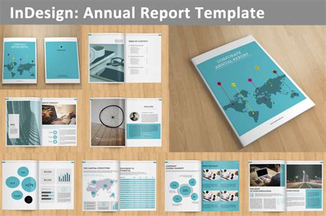 creative report templates annual report v129 brochure templates on creative market