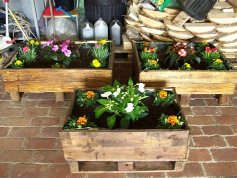 planters made from pallets recycled pallet planter boxes