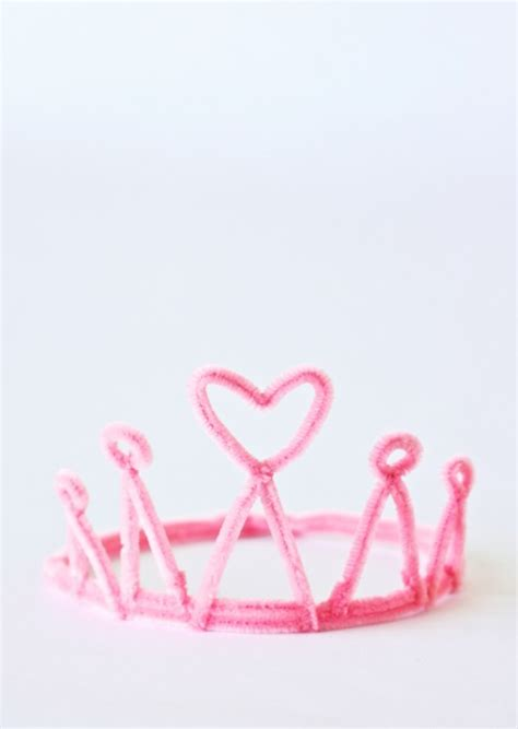 How To Make A Princess Tiara Out Of Paper - one charming birthday ideas pipe cleaner