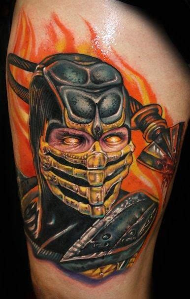 mortal kombat tattoo designs mortal kombat scorpion tattoos