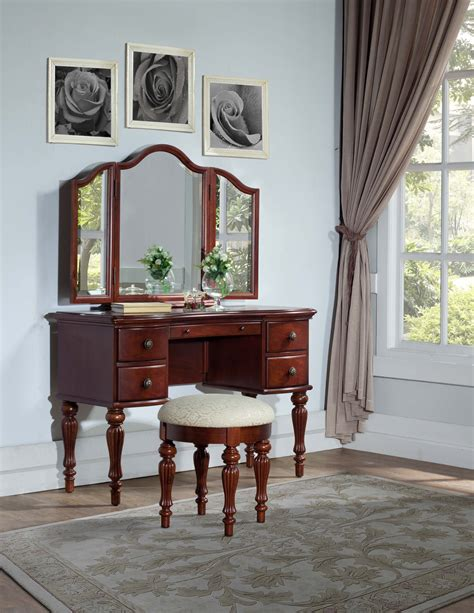 powell vanity mirror and bench l powell quot marquis cherry quot vanity mirror bench