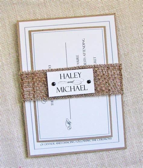 cheap burlap wedding invitations wedding invitations made of burlap