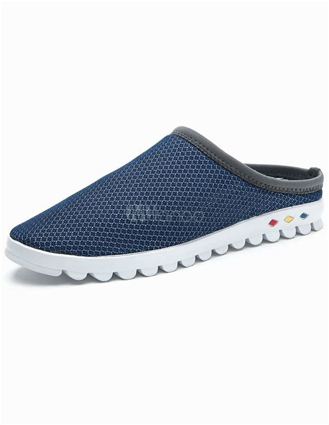 backless sneakers for modern blue cut out backless mesh sneakers for