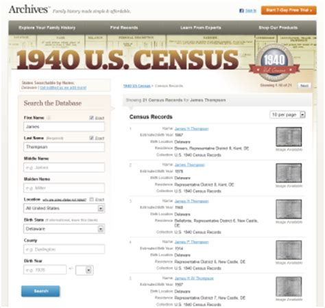 Usa Search By Name Archives Adds State To Its Search By Name Index Of The 1940 U S Census