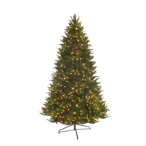 bradford pine miracle christmas tree by puleo puleo international 7 5 ft pre lit incandescent miracle shape carolina spruce artificial