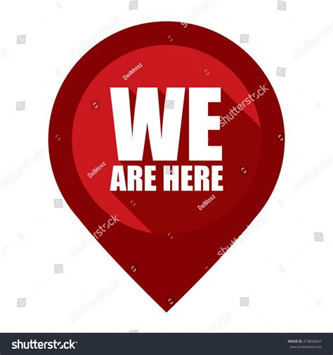 we in here red we here map pointer icon stock illustration 273828047
