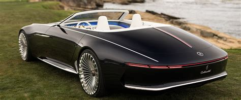 mercedes maybach reveals new futuristic convertible