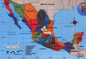States In Mexico Map by Mexico States Mapsof Net