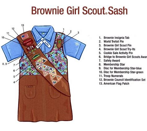 cadette sash diagram 1000 images about scouts brownie on