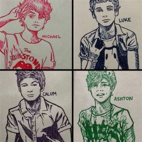 5 Second Sketches by 5sos Fan This Is Really Lukeys